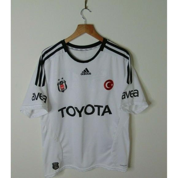 Adidas L Besiktas JK Soccer Football Jersey White